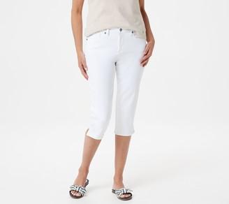 NYDJ Skinny Capri with Side Slits -Optic White