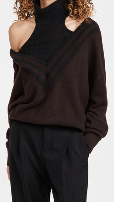 By Any Other Name Varsity Halter Cashmere Sweater