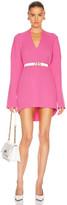 Balenciaga Long Sleeve Slit Sweater in Ultra Pink | FWRD