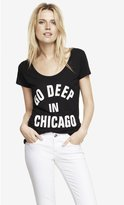 Express Scoop Neck Graphic Tee - Go Deep In Chicago