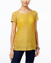 INC International Concepts Petite Multi-Stitch Knit Top, Only at Macy's