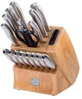 Chicago Cutlery 18 Piece Cutlery Block Set with Sharpener