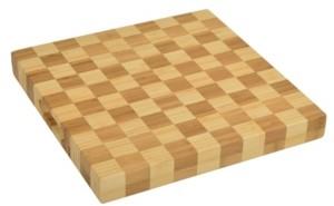 """Picnic at Ascot Bamboo Checker Board Design Butcher Block Cheese Board 13"""" x 13"""""""