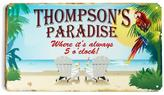 Personal Creations Personalized Paradise It's 5 O' Clock Metal Sign