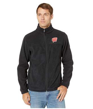 Columbia College Wisconsin Badgers CLG Flankertm III Fleece Jacket (Black) Men's Coat