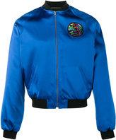 Saint Laurent 'teddy surf' bomber jacket - men - Cotton/Lamb Skin/Polyester/Viscose - 50