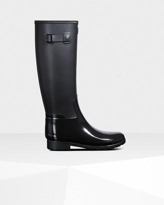 Hunter Women's Refined Slim Fit Gloss Duo Tall Rain Boots