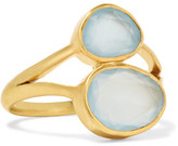 Pippa Small 18-karat Gold Aquamarine Ring - M 1/2