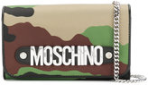 Moschino camouflage chain wallet