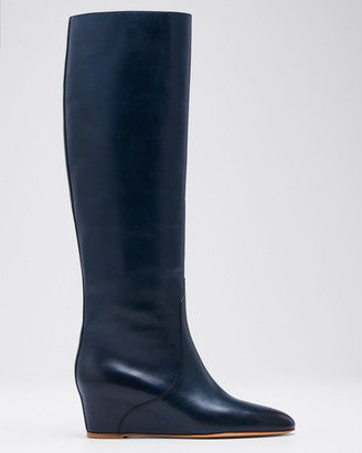 Gabriela Hearst Gustave Low-Wedge Knee Boots
