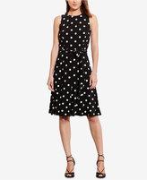 Lauren Ralph Lauren Petite Polka-Dot-Print Jersey Dress