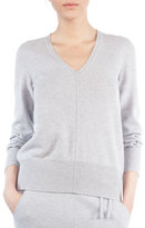 Akris V-Neck Long-Sleeve Cashmere Pullover Sweater