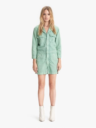 Mother The Fixer Romper - Hedge Green