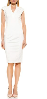 Alexia Admor Scuba Midi Sheath Dress