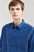Urban Outfitters Flecked Small Check Flannel Button-Down Shirt