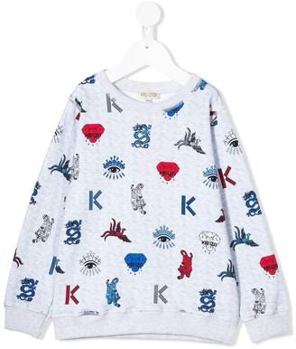 Kenzo Kids Cotton Multi-Icon Sweatshirt