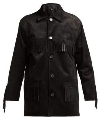 Nili Lotan Fringed Suede Jacket - Womens - Black