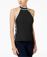 XOXO Juniors' Contrast-Trim Halter Top