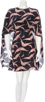 Valentino Silk Capelet Dress w/ Tags