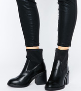 New Look Wide Fit Sock Ankle Boots