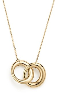Bloomingdale's 14K Yellow Gold Double Interlocked Circle Chain Necklace, 17 - 100% Exclusive