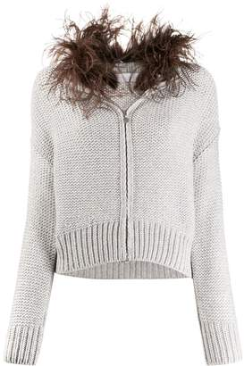 Fabiana Filippi feather-embellished cardigan