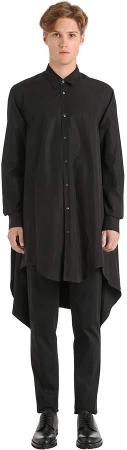 DSQUARED2 Long Cotton Poplin Shirt