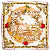 Cartier Jeweled Printed Scarf