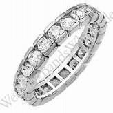 Wedding Bands Wholesale 14k Gold Diamond Eternity Wedding Bands, Box Setting 3.00 ct. DEB00314K - Size 4