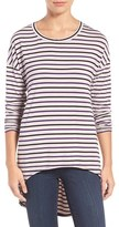 KUT from the Kloth Women's Mindy Stripe High/low Tee