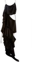 Zac Posen Draped Ruffles Charmeuse Dress