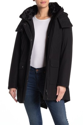 Calvin Klein Faux Fur Lined Collar Insulated Jacket