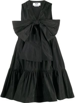 MSGM Bow-Front Parachute Dress