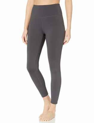 "Core 10 Amazon Brand Women's High Waist Yoga Scallop Mesh Legging with Pockets- 26"" Inseam"