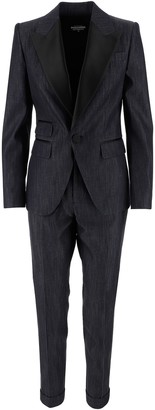 DSQUARED2 Cotton Denim Women's Tuxedo Dress
