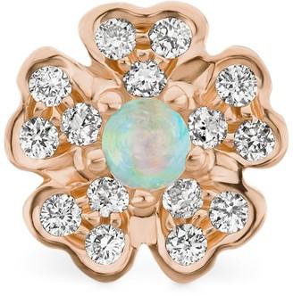 Maria Tash Diamond And Opal Pansy Threaded Stud Earring (5.5Mm)