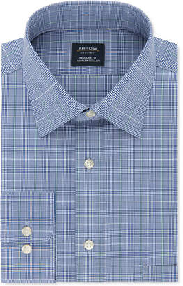 Arrow Men Classic-Fit Windowpane Dress Shirt