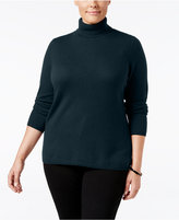 Charter Club Plus Size Cashmere Turtleneck Sweater, Only at Macy's