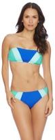 Nautica Shades Of The Sea Color Block Bandeau Bikini Top