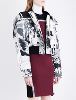 Versace Scribble-print shell jacket