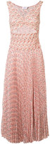 A.L.C. peach print pleated dress - women - Silk - 4