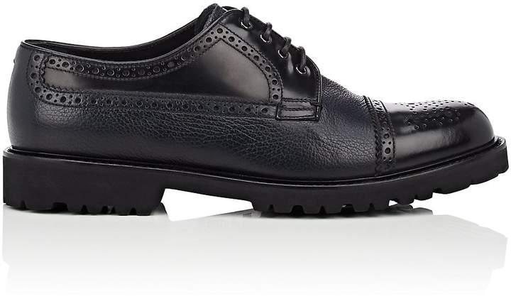 Emporio Armani Men's Cap-Toe Leather Bluchers