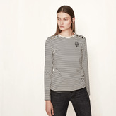 Maje Sailor-style T-shirt with crest