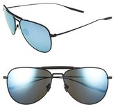 Salt Men's Striker 59Mm Aviator Sunglasses - Black Sand