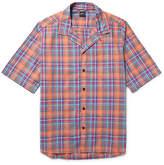 Albam - Panama Camp-Collar Checked Cotton Shirt