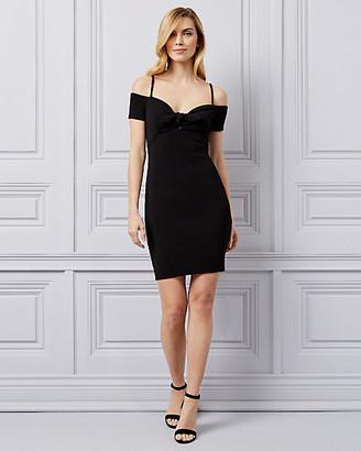 Le Château Pebbled Knit Off-the-Shoulder Dress