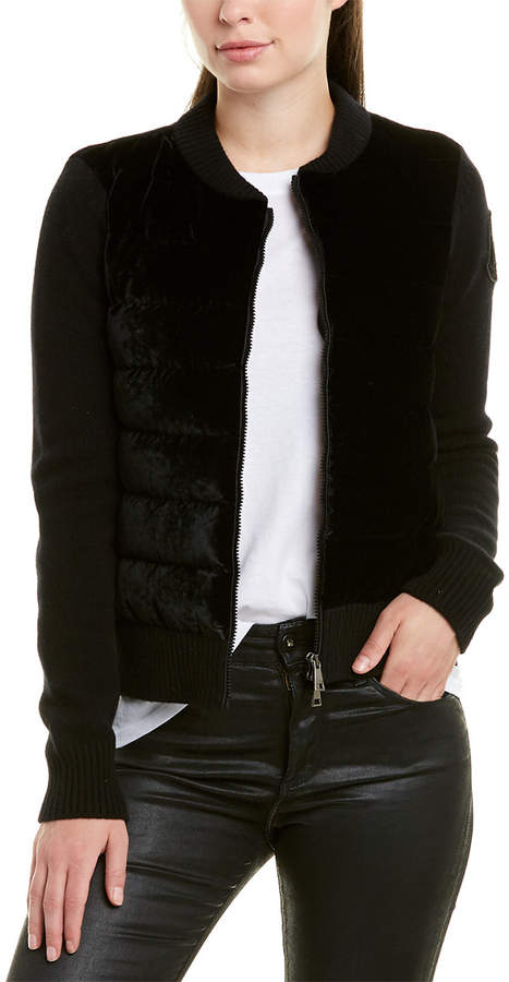 269acb447 Velvet Wool & Cashmere-Blend Down Bomber Jacket