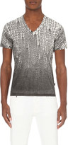 Just Cavalli Knit-print cotton-jersey t-shirt