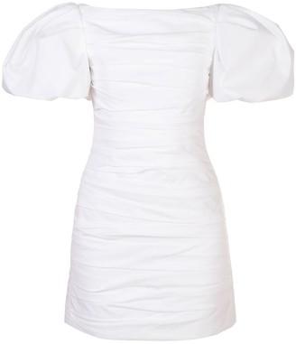 KHAITE Shelly puff-sleeve mini dress