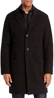 Andrew Marc Rigel Wool Blend Bib Detailed Topcoat